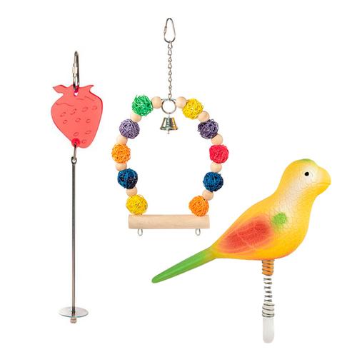 Игрушки, качели, жердочки для птиц