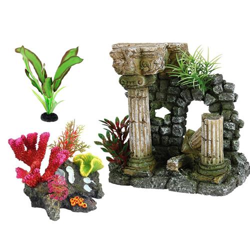 Аксессуары, украшения, декор для аквариума