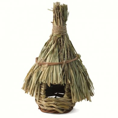 Фото Гнездо-домик для птиц плетеное, 14х24,5 см PT6705