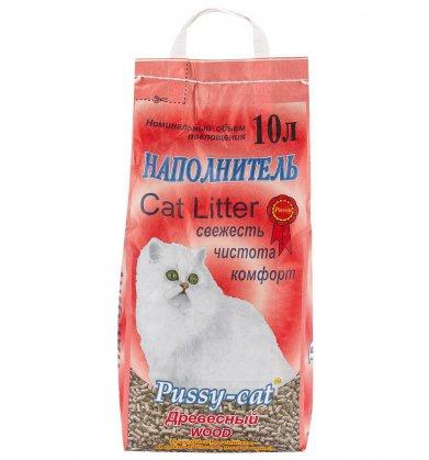 Фото Наполнитель Pussy-Cat древесный 10 л