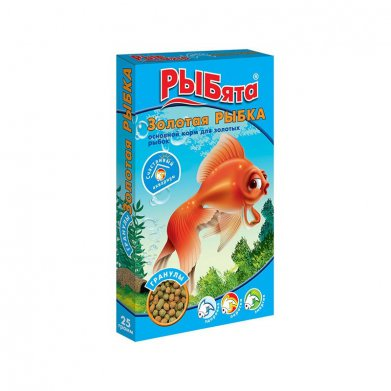 Фото Корм РЫБята Золотая рыбка, гранулы+сюрприз 25 г
