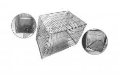 Фото Клетка Кл-С-9 со скошенной крышей для транспортировки собак в автомобиле Данко, две двери