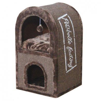 Фото  Когтеточка-домик SBE928 40*40*70 см коричневая от Pet Choice