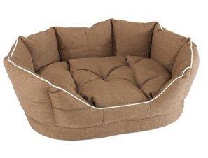 Фото Софа Fiore 70 коричневая с подушкой 70*52*25 см Ferplast