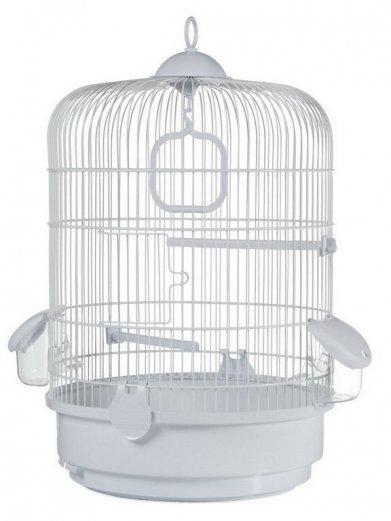 Фото Клетка Voltrega для птиц (736) белая 32,5*48 см