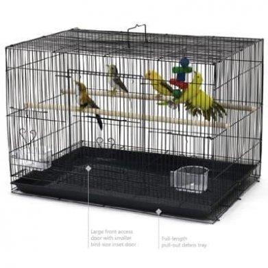 Фото Клетка-пролетка Golden cage для птиц 601 эмаль, 60*42*41 см
