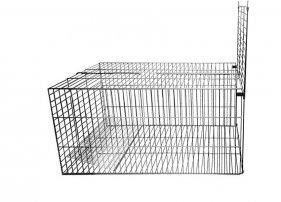 Фото Клетка металлическая Кл-С-7 для отлова животных Данко, гравитационный механизм запирания