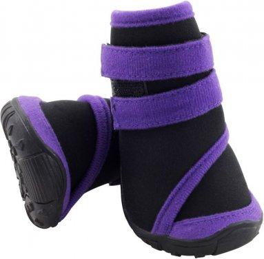 Фото Ботинки Triol чёрные с фиолетовым на липучке YXS136