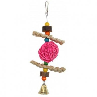 Фото Игрушка Golden cage для птиц с шариком и колокольчиком NV8036 8*12 см