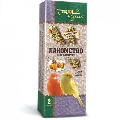 Фото Лакомство для канареек Triol Original палочки с фруктами и мёдом 2 шт.