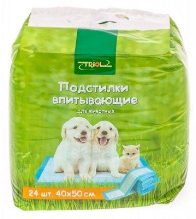 Фото Подстилки Triol 24 шт 40*50 см впитывающие для туалета DP-07