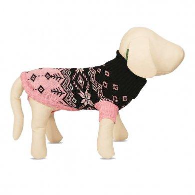 Фото Triol свитер для животных, черный с розовым орнаментом 7551B
