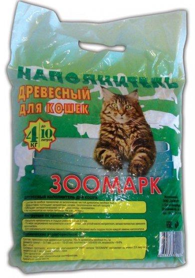 Фото Наполнитель Zoomark  древесный для кошек 6 л