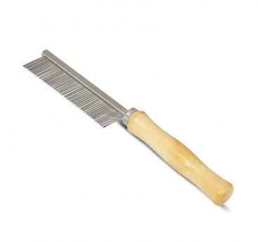 Фото Triol расческа с частыми зубьями и деревянной ручкой, 307М