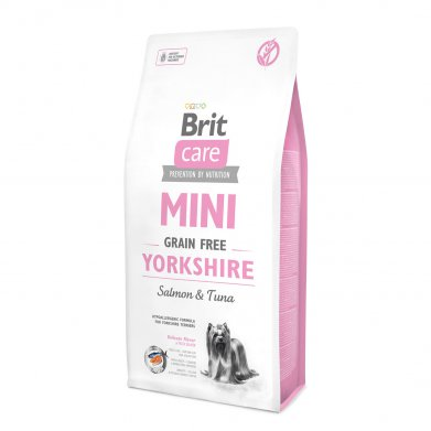 Фото Brit Care Mini Yorkshire беззерновой корм c лососем и тунцом для йоркширских терьеров