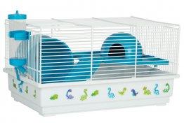 Фото Клетка Voltrega для грызунов (114) голубая, 39*25,5*22 см