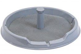 Фото Туалет Дарэлл круглый со столбиком Рокки для собак мелких пород с резиновым ковриком 60 см
