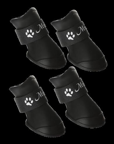 Фото Triol сапоги для собак YXS203 Mr. Shoes из мягкой резины на липучке, черные, 4 шт