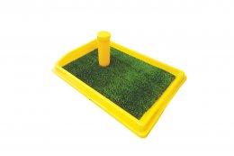 Фото Туалет со столбиком для собак мелких пород Данко, искусственная трава