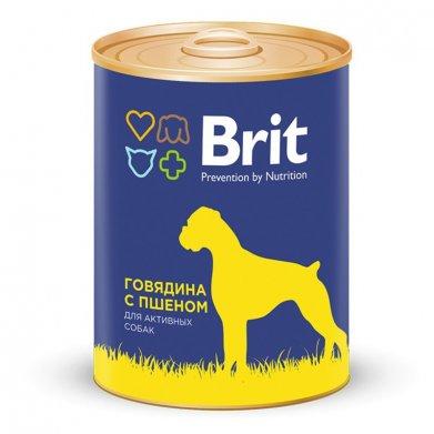 Фото Консервы Brit Beef & Millet говядина и пшено для собак 850 г