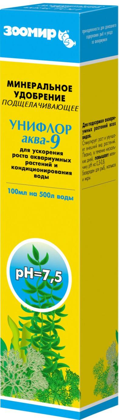 Фото Удобрение Зоомир для растений подщелачивающее Унифлор Аква-9 100 мл
