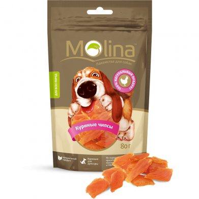 Фото Molina лакомство для собак куриные чипсы, 80 г