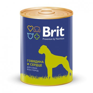 Фото Консервы Brit Beef & Heart говядина и сердце для собак 850 г