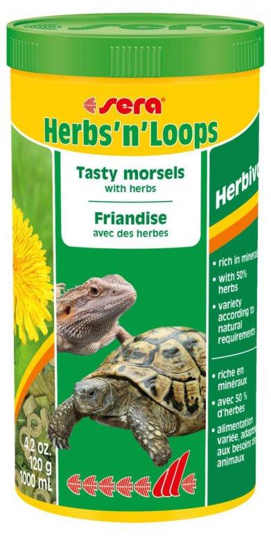 Фото Корм Sera для рептилий Herbs'n'Loops 1000 мл / 120 г