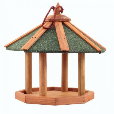 Фото Кормушка деревянная для птиц подвесная, 44*44*39,5 см BHW1017