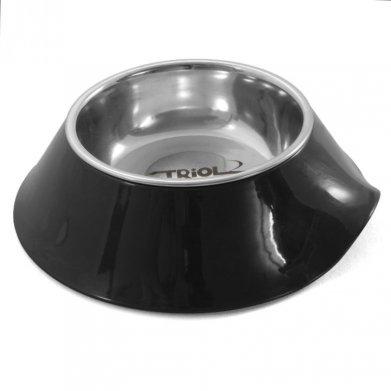 Фото Миска Triol металлическая на пластиковой подставке, черная, 0,20 л