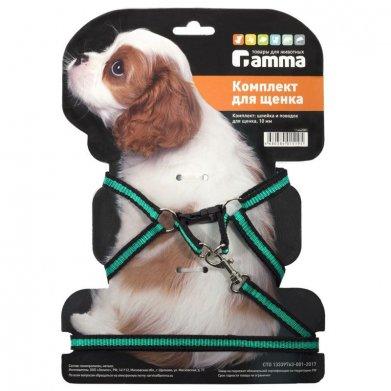 Фото Комплект шлейка и поводок Gamma для щенка