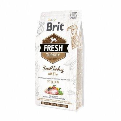 Фото Brit Fresh Turkey with Pea Light Fit & Slim индейка с горохом для контроля веса, 2,5 кг