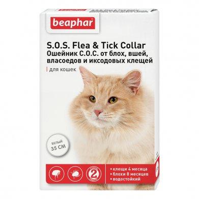 Фото Ошейник S.O.S. Flea & Tick Collar от блох и клещей для кошек 35 см