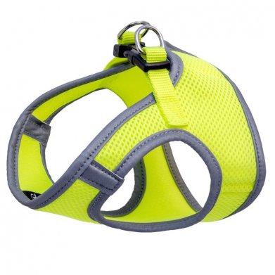 Фото Комплект Triol мягкая шлейка-жилетка и поводок нейлоновый неоново-желтый