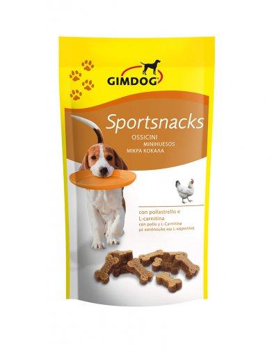Фото GimDog дрессировочные косточки для собак с курицей и L-карнитином Sportsnacks, 60 г
