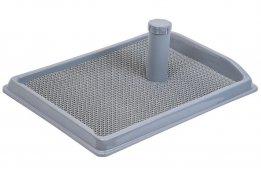 Фото Туалет Дарэлл прямоугольный со столбиком Рокки для собак мелких пород с резиновым ковриком 55*40 см
