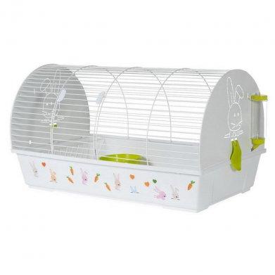 Фото Клетка Voltrega для грызунов с наклейками (990), белая, 80*46*44 см