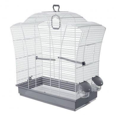 Фото Клетка Voltrega для птиц (621) бело-серая 57*27*57,5 см