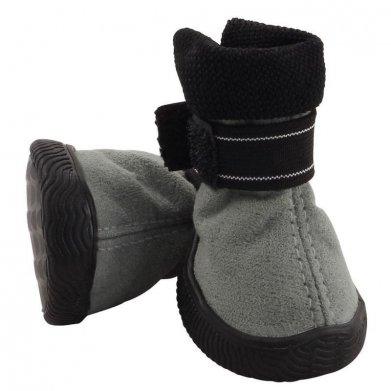 Фото Ботинки Triol на липучке серые, замша YXS144