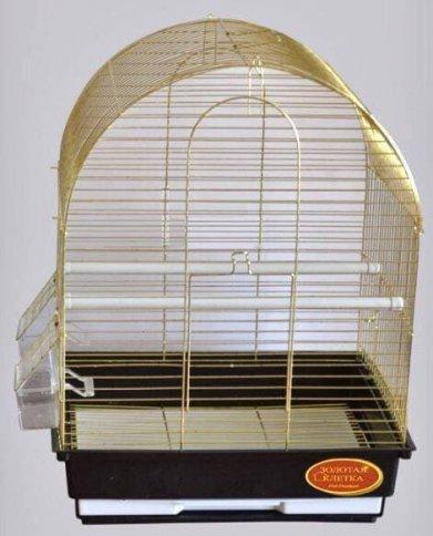 Фото Клетка Golden cage A417G для мелких птиц золотая (35*28*43 см)
