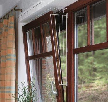 Фото Решётка защитная Trixie для окон, верхняя панель, 65*16 см/8 см, белая