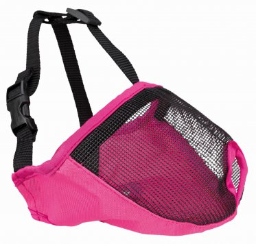 Фото Намордник Trixie для короткомордых пород, полиэстер, розовый