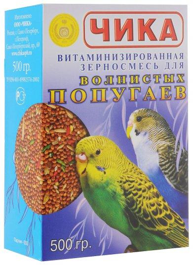 Фото Витаминизированная зерносмесь Чика для волнистых попугаев 500 г