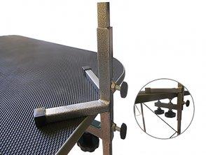 Фото Стойка-кронштейн регулируемая для грумерского стола Данко, сварной держатель, в ассортименте