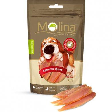Фото Molina лакомство для собак куриное филе, 80 г