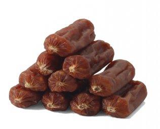 Фото Triol пикантные сосиски из говядины для собак, 500 г (банка)