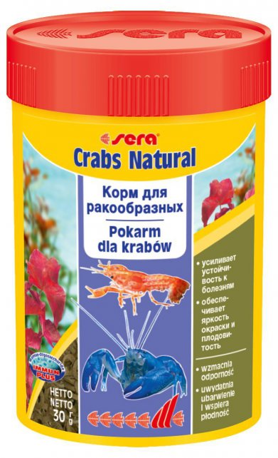 Фото Корм Sera для раков и крабов Crabs Natural 100 мл/ 30 г