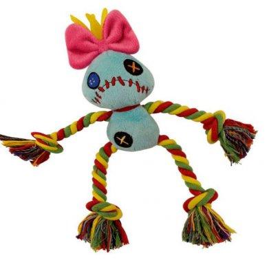 Фото WD1018 Мягкая игрушка с канатом Kukla 15 см