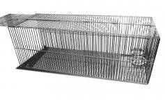 Фото Клетка Данко металлическая для отлова кошек КлК-3 с механическим блокиратором