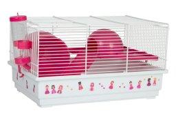 Фото Клетка Voltrega для грызунов (114) розовая, 39*25,5*22 см